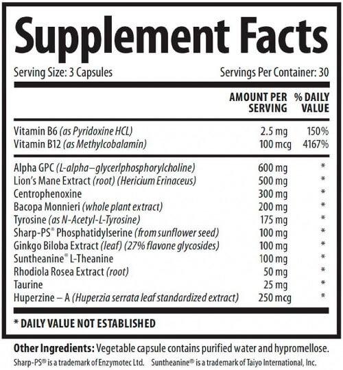 1 Body Brain Support Ingredients