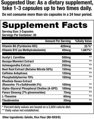 The Ingredients in the Jocko Discipline GO Nootropic Capsule Version