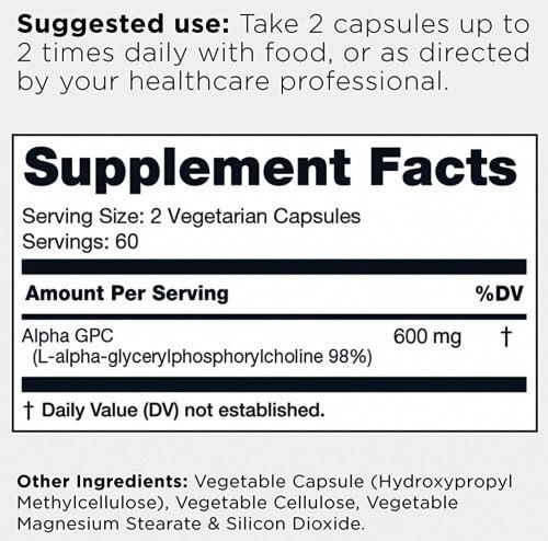 Toniiq Alpha GPC Ingredients